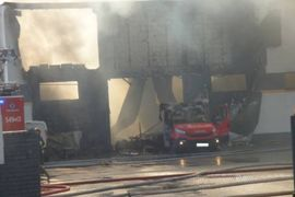 Textile Plant Production Hall Burns in Poland
