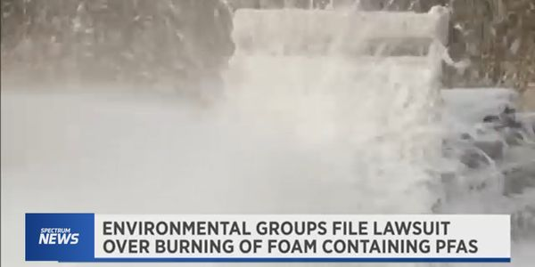 Environmentalists challenge Department of Defense plan to dispose of fluorinated firefighting foams.