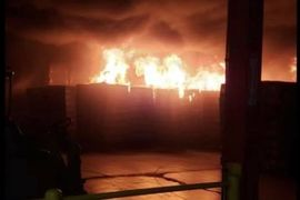 Warehouse at Insulation Factory Burns in Virginia