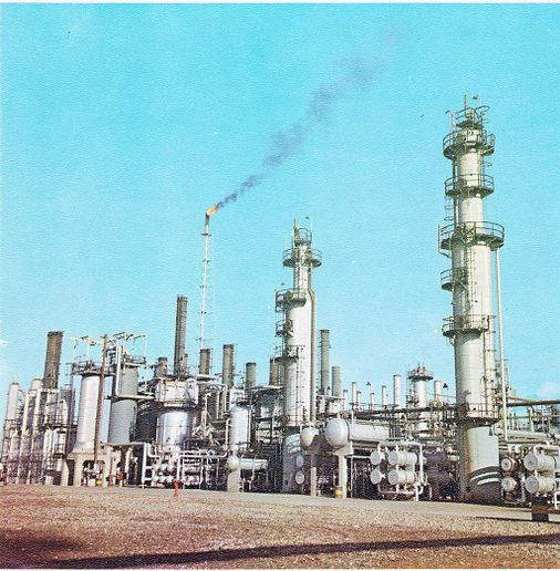 Abadan oil refinery ranks as one of the world's largest. - Photo courtesy of NIOC