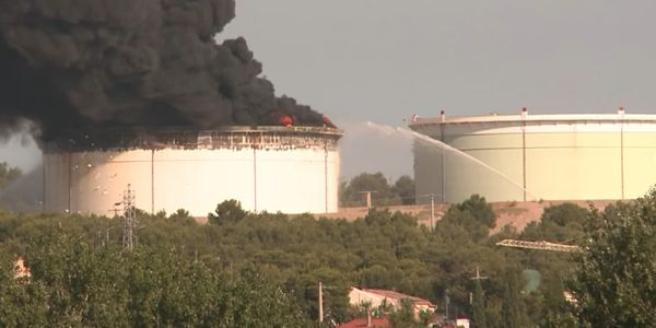 Added by explosives, two storage tanks at a Lyondell-Basell refinery in France caught fire in 2015.