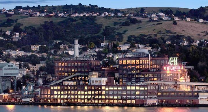 The C&H sugar refinery sits on the shores of San Francisco Bay. - Screencapture Via Facebook