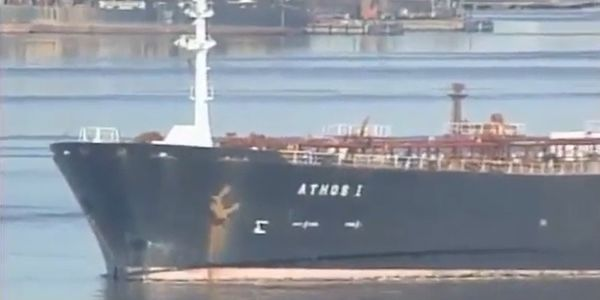 A tanker that hit an abandoned anchor spilled 264,000 gallons of crude into the Delaware River...