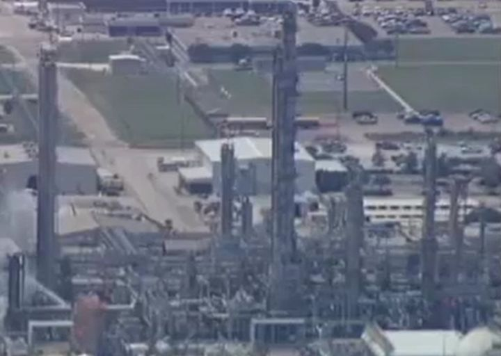 NOVA Chemicals Geismar, Louisiana, complex, site of an unscheduled chemical release Monday. - Screencapture Via WAFB