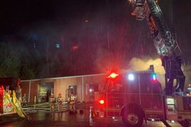 Smokey Fire Wipes out Contents of Clothing Warehouse