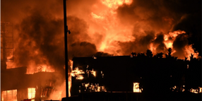 Fire Destroys Warehouse in San Francisco