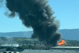 Auto Body Shop Fire Engulfed Pallet Yard