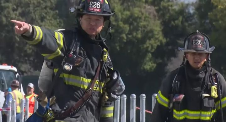 Thirteen San Jose, California, firefighters have tested positive for COVID-19. - Screencapture Via KPIX