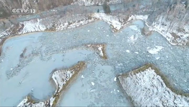 Mine tailings spilled into a river near Yichun, China, Saturday. - Screenncapture Via CCTV