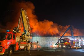 Flames Destroy UK Textile Warehouse