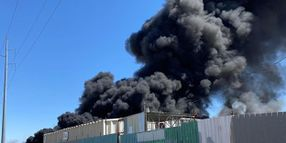 Mutual Aid Response Battles Texas Recycling Plant Fire