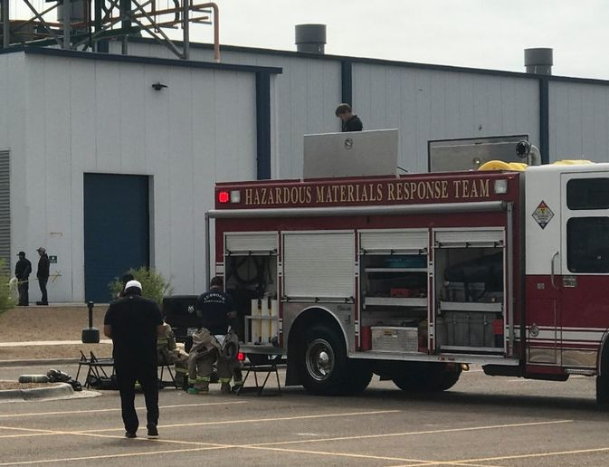 Hazmat crew arrives at an ammonia leak in Lubbock, Texas, Saturday. - Photo Courtesy of Lubbock Fire Department