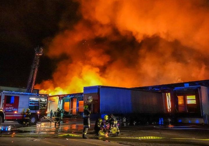 Nearly 300 firefighters were involved in extinguishing a paper mill that burned in Austria in February. - Photo courtesy of Mission Documentary