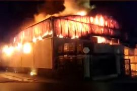 Grease Fire Consumes Recycling Plant in Mexico