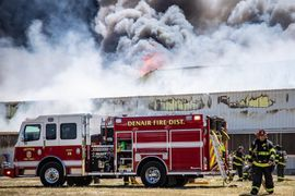 Flames Consume Egg Production Building in California