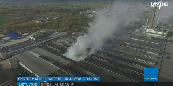 A stubborn tire recycling plant fire last October in Alytus, Lituania, burned more than a week.