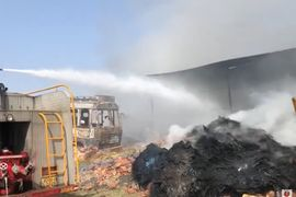 Tire Recycling Plant in India Damaged by Intense Fire