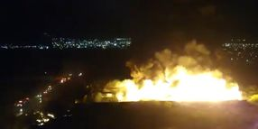 Huge Fireballs Rise From Recycling Plant Blaze in Mexico