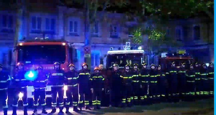 The Grugliasco Vigili del Fuoco responded to the fire in Bruino, Italy, Tuesday. - Screencapture Via YouTube