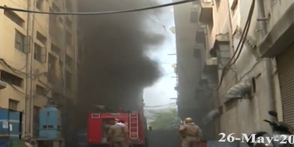 Shoe factory fire broke out Tuesday in Delhi, India.