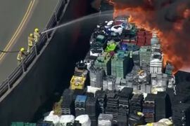 UK Recycling Plant Fire Spreads into Trailer Park