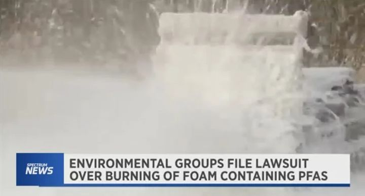 Environmentalists challenge Department of Defense plan to dispose of fluorinated firefighting foams. - Screencapture Via Spectrum News