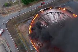 Thunderstorm Ignites Storage Tank Seal Fire in Malaysia