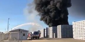Acres of Pallets Burning Outside California Packing Plant