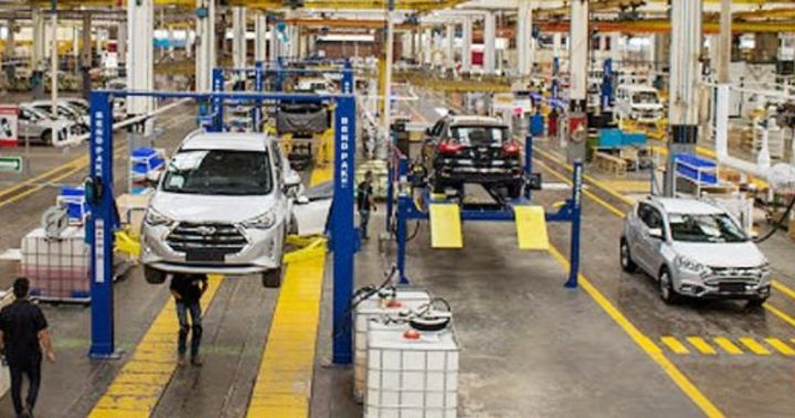 Assembly line at JAC Motors in Tepeapulco, Mexico. - Screencapture Via Twitter