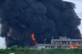 Chemical Plant Explosion in Italy Spreads Massive Fire