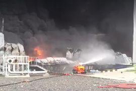 Massive Fire Spreads Through Diaper Plant in India