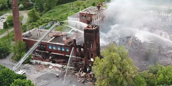 Historic Canadian printing plant slowly erased by series of arson fires.