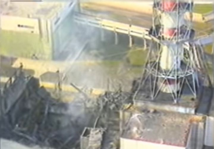 Damage from the 1986 explosion at the Chernobyl nuclear power plant in Ukraine. - Screencapture Via YouTube