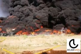Rubber Recycling Plant Consumed by Fire in Spain