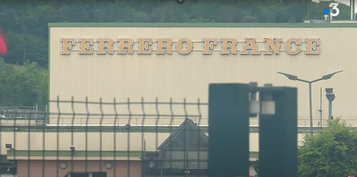 The Ferrero plant in Villers-Ecalles, France. - Screencapture Via France 3 News