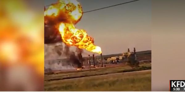 An explosion disrupted operations at a natural gas plant near Snyder, Texas, Tuesday.