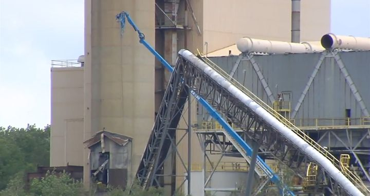 A structural collapse at a closed power plant in Pennsylvania killed one Thursday. - Screencapture Via WFMZ