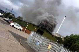 Firefighters Rescue Two From Burning UK Factory