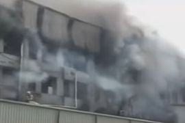 Mattress Factory Fire Breaks Out in Northern India
