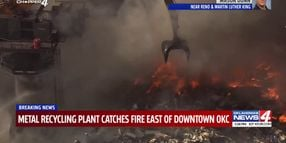 Explosion Triggers Recycling Plant Fire in Oklahoma