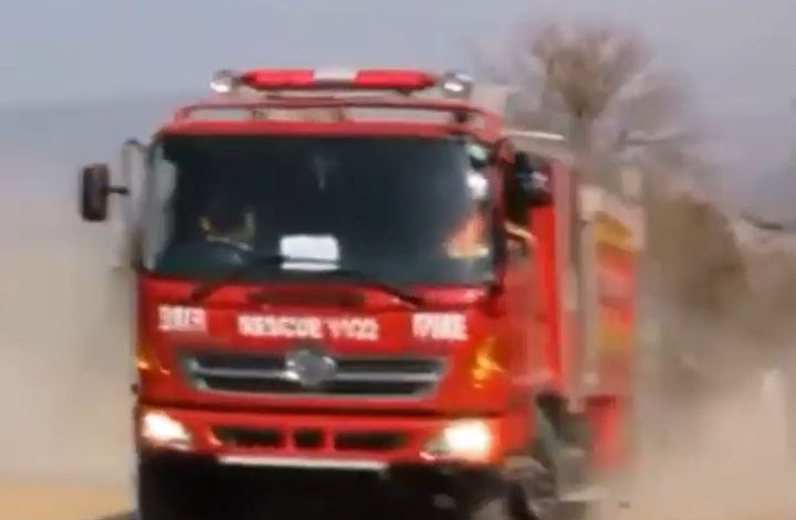 Pakistani fire truck rushing to an emergency. - Screencapture Via YouTube
