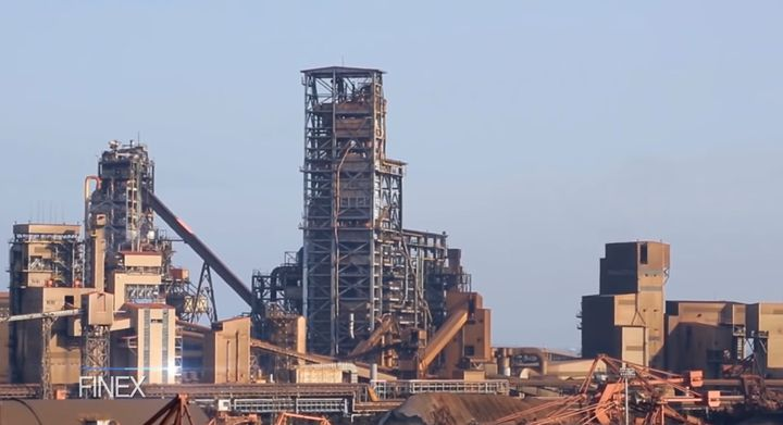 POSCO steel mill located in Pohang, South Korea. - Screencapture Via YouTube