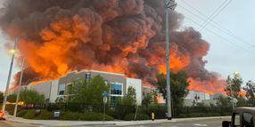 Amazon Distribution Center in California Lost to Fire