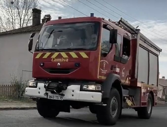 Firefighters in France rush to the scene of an emergency. - Screencapture Via YouTube