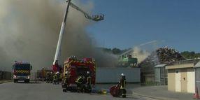 Incineration Plant Fire Breaks Out Near Lubrizol in France