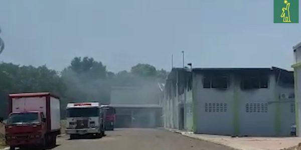 Dominican diaper maker reports factory fire Saturday.