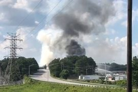 Chemical Plant Fire in Georgia Raises Heavy Smoke