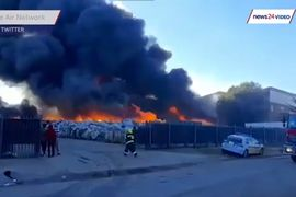 Outdoor Storage Burns at South African Recycling Plant