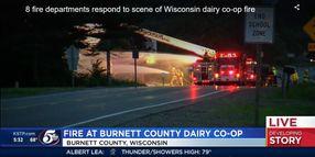 Dairy Co-op in Northwest Wisconsin Goes Up in Flames