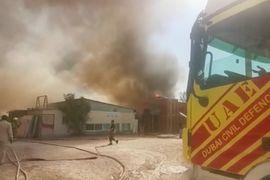 UAE Lumber Mill Fire Sends Smoke Across Dubai Skyline